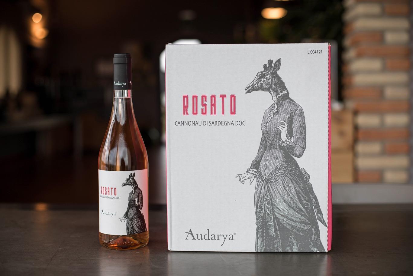 rosato cannonau di Sardegna doc Audarya scatola da sei