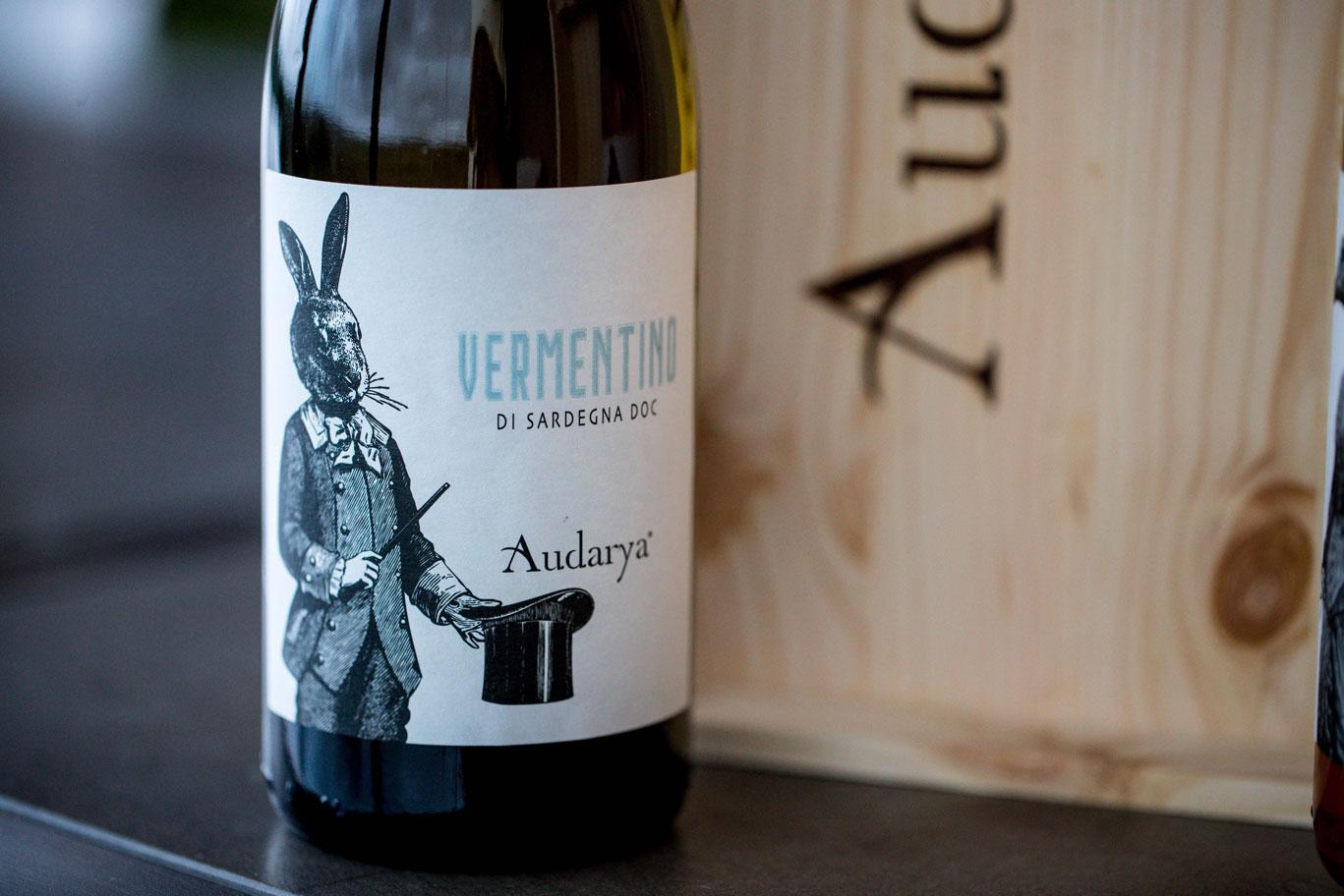 fermentino di Sardegna doc Audarya coniglio vino